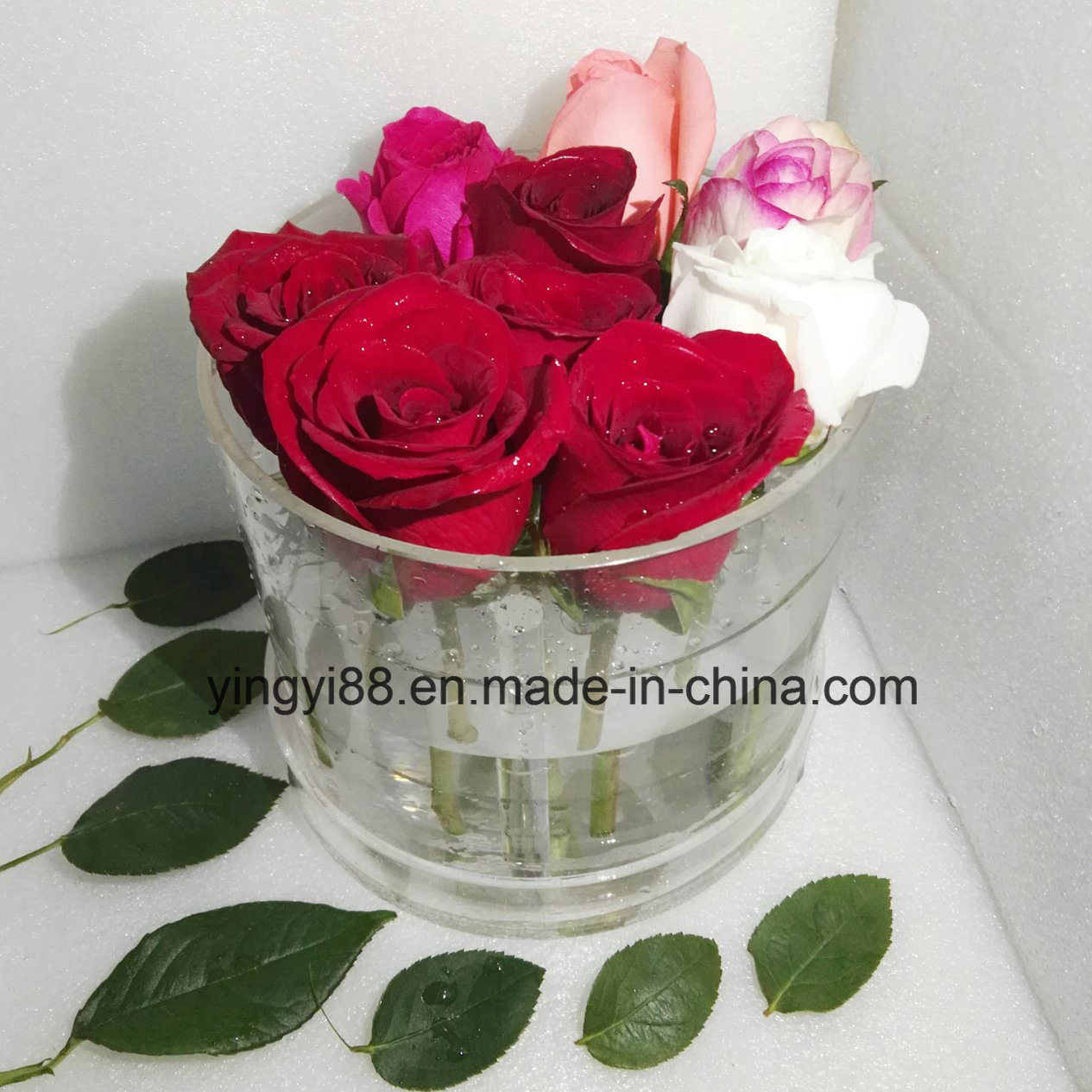 Waterproof Clear Acrylic Flower Storage Box /Rose Packing Box Shenzhen Manufacturer