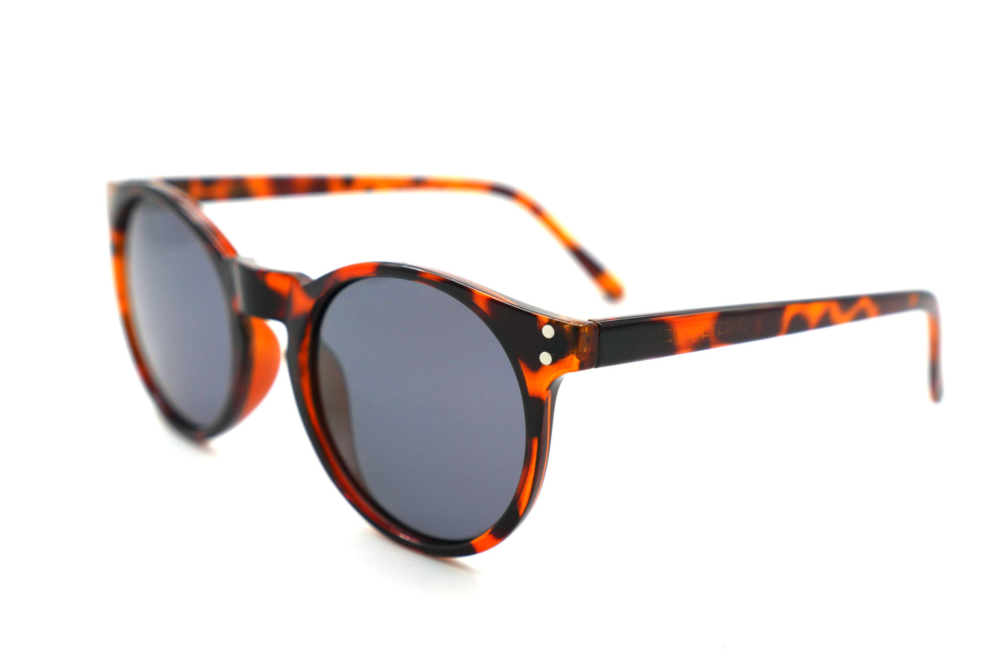 New Coming Fashion Round Demi Frame UV400 Lens Sunglasses