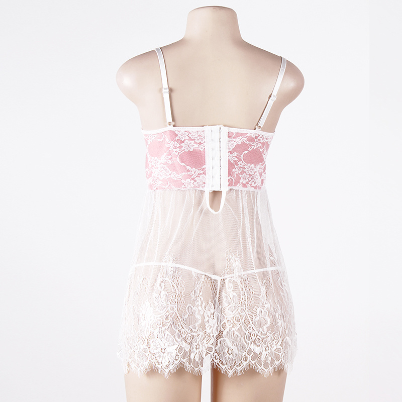 in Stock Floral Design Pink Women Lingerie