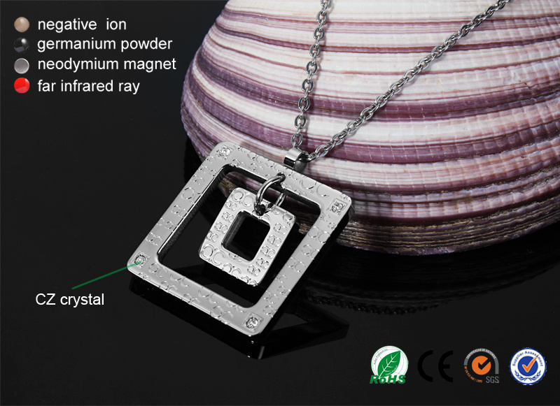 Cheap Price 316L Stainless Steel Unisex Magnetic Pendant Necklace (30011)