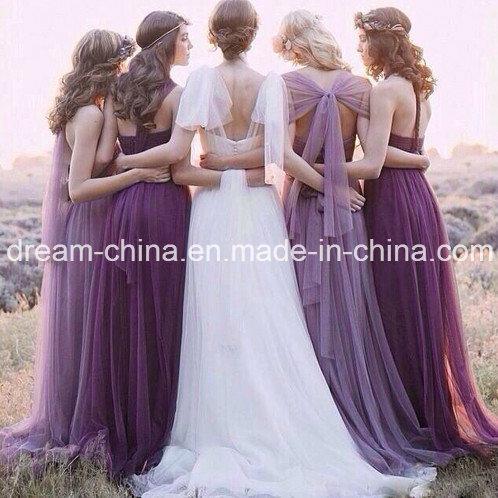 2017 off-Shoulder One-Shoulder Vintage Evening Bridesmaid Ladies Dress (Dream-100095)