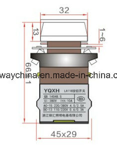 Dia22mm-La118awp Push Button Switch, Black, Red, Green, Yellow, Blue, White Color, 6V-380V Voltage