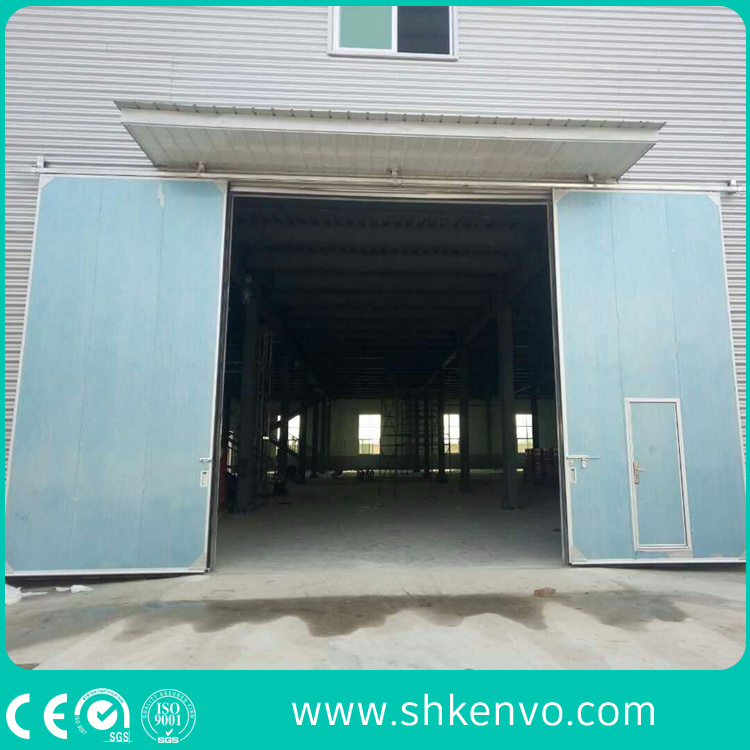 Industrial Manual or Electric Automatic Thermal Insulated Sliding Door with Small Wicket Door