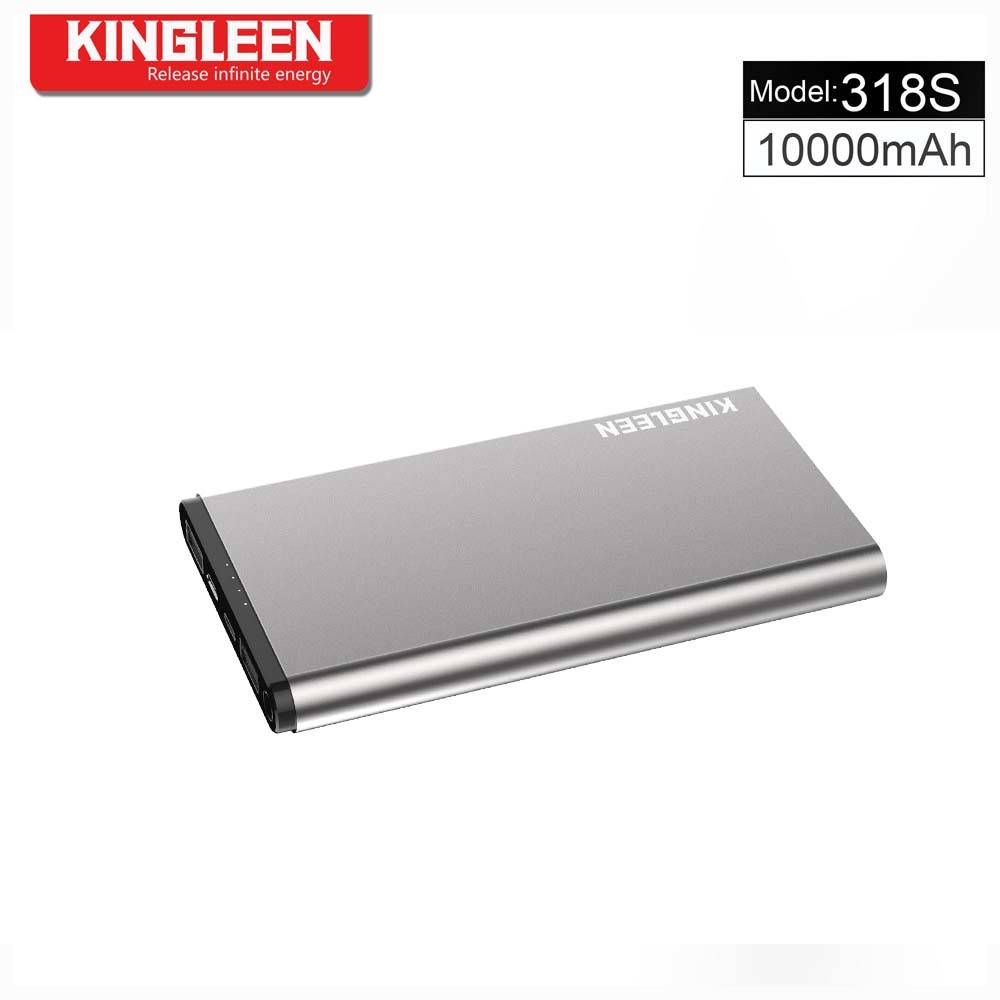 Kingleen 318s Power Bank 10000mAh Dual USB 2A Output for Lightning and Micro