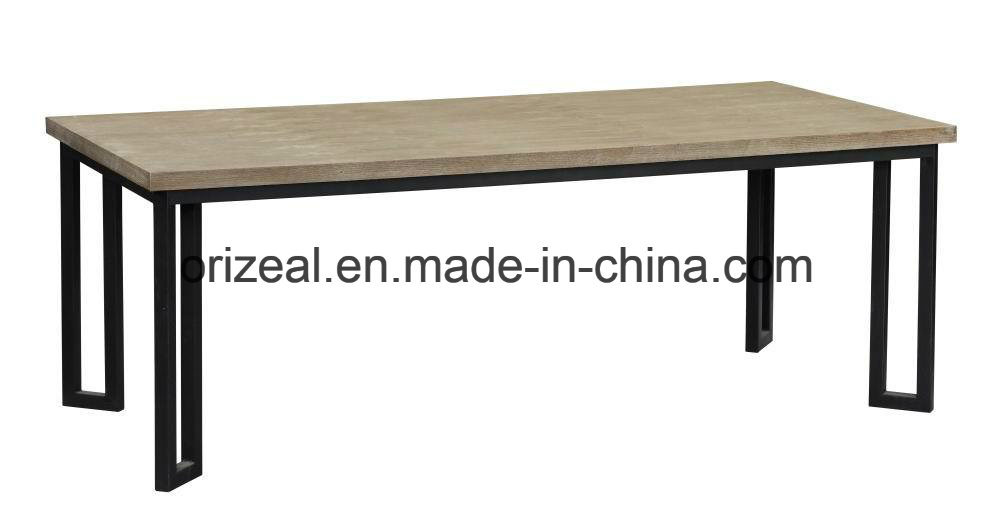 Exquisite Design Luxury Furniture for Hotel Metal and Wood Coffee Table