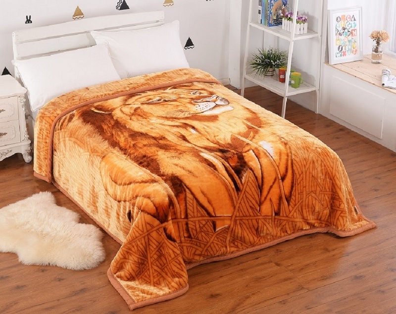 100% Polyster Animal 2ply Acrylic Blanket