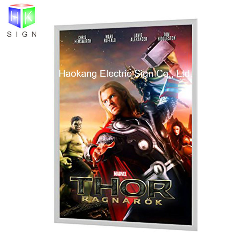 27X40 Movie Poster Light Box with Backlit Frame Advertising Display