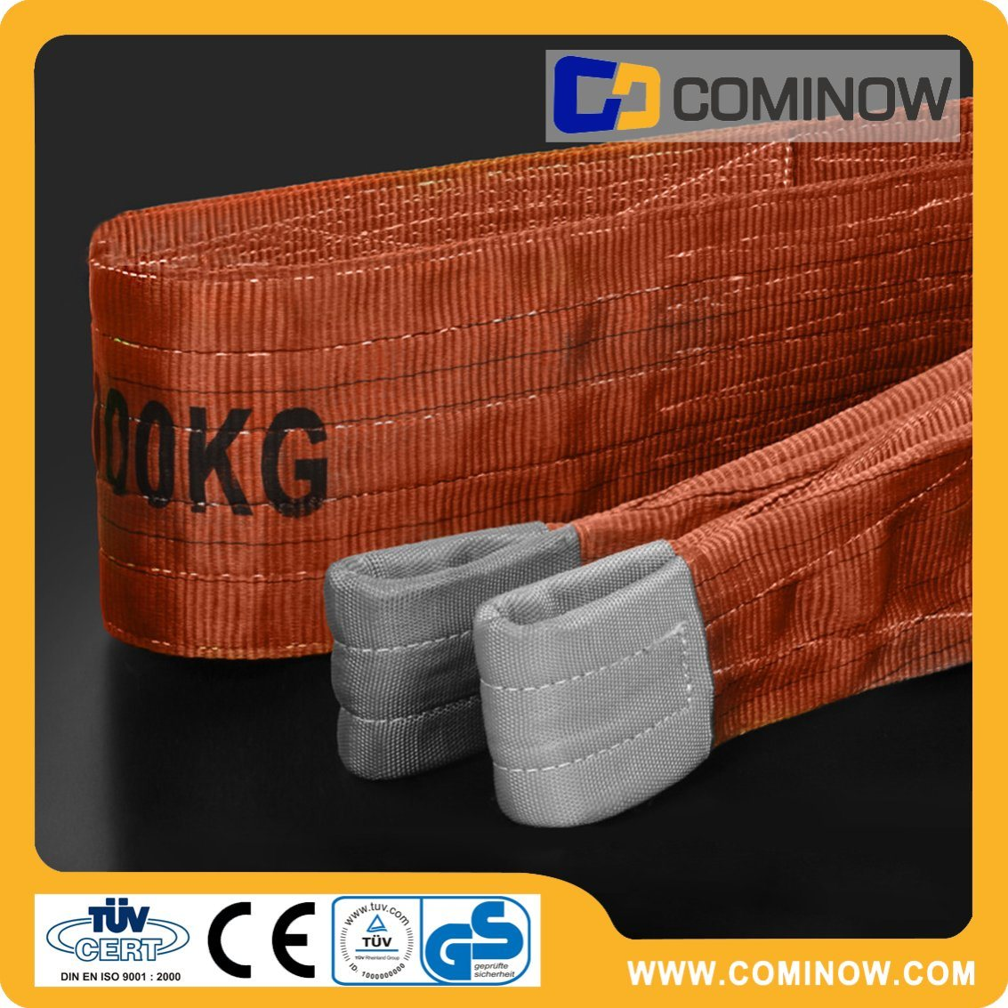 6t Polyester Webbing Sling with Reinforced Eyes En1492-1