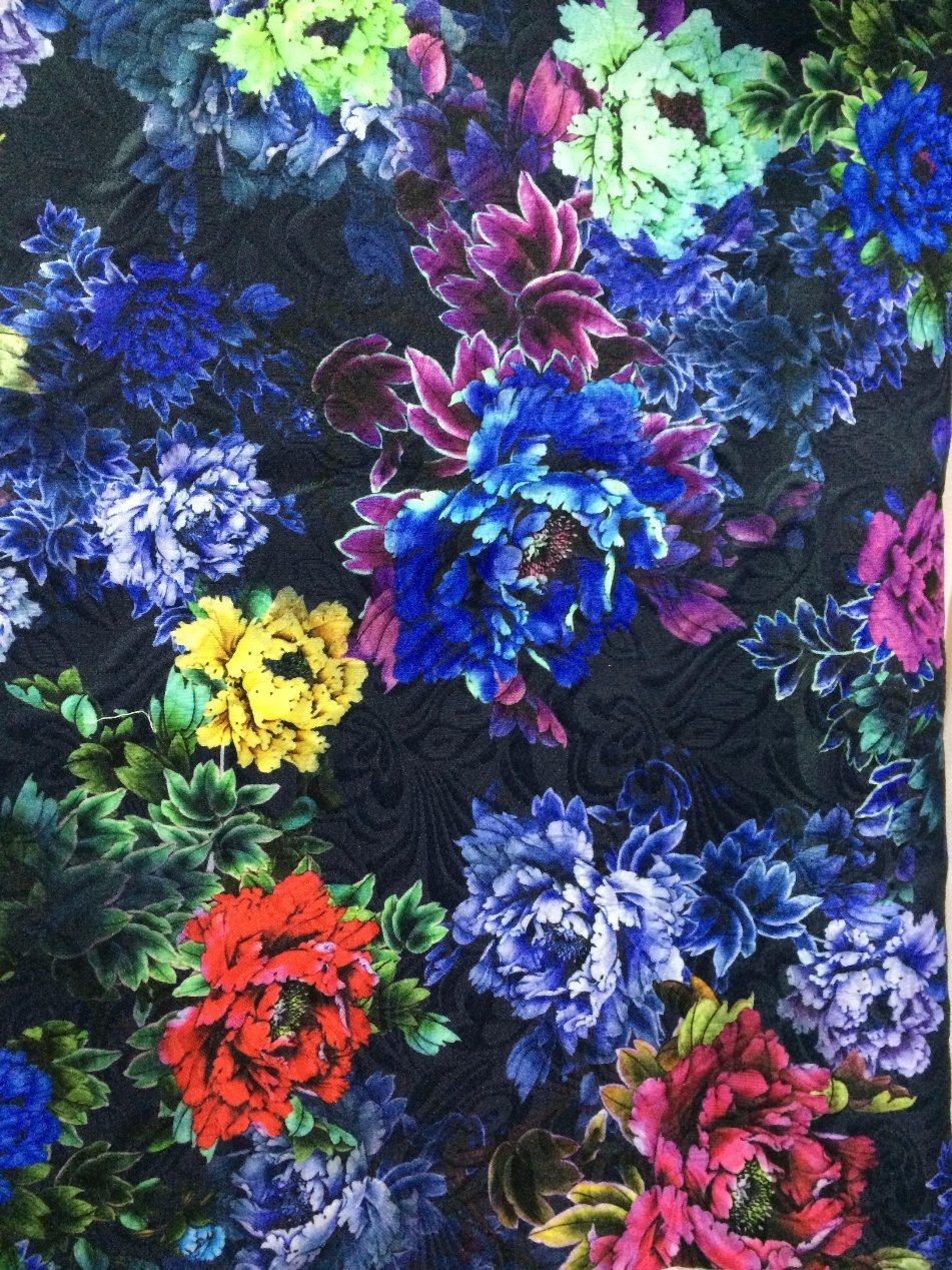 Digital Print on Mesh Lace Swimming Fabric