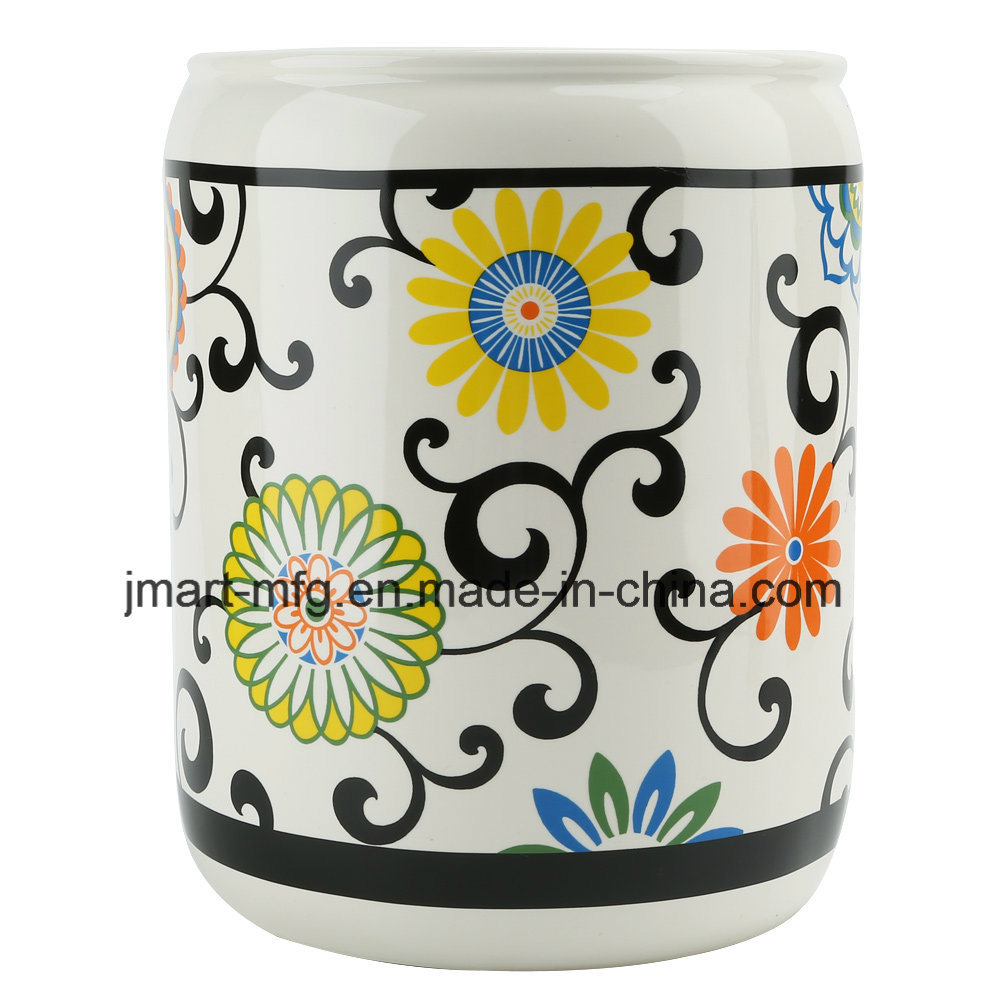 Modern Flower Decal Ceramic Bathroom Accessory / Bath Accessory / Bathroom Set