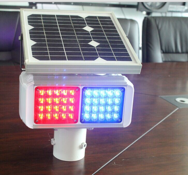 Traffic Road Four Side Visual Solar LED Police Flashing Warning Light