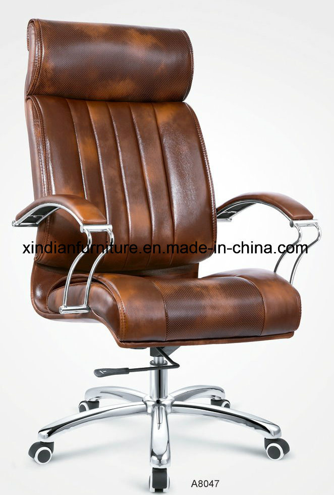 Wholesale Office Metal Chair with Leather Faced