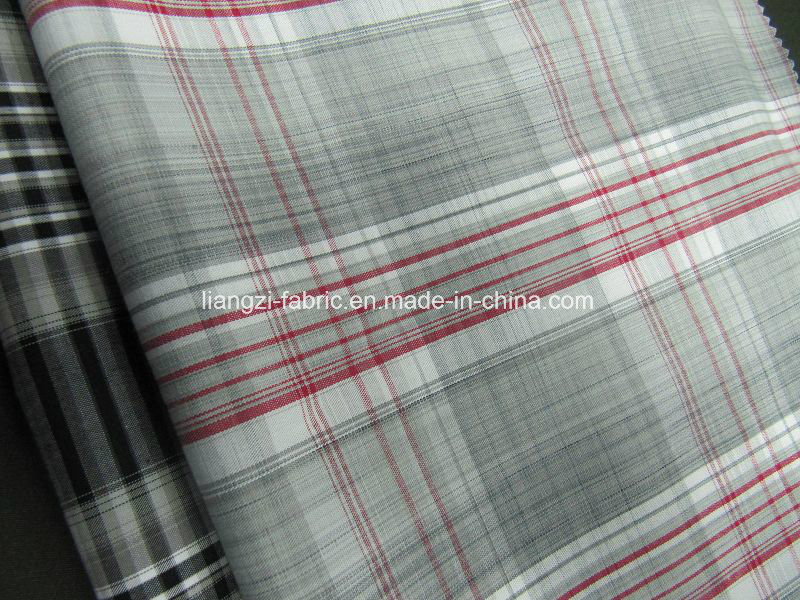 Cotton Yarn Dyed Check Poplin Fabric for Shirts