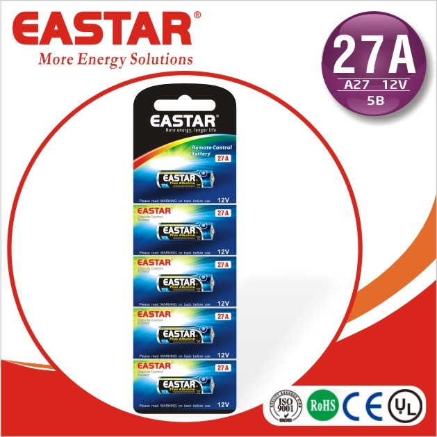 Alkaline Battery Packs 23A 12V 65mAh with ISO9001 Standrad