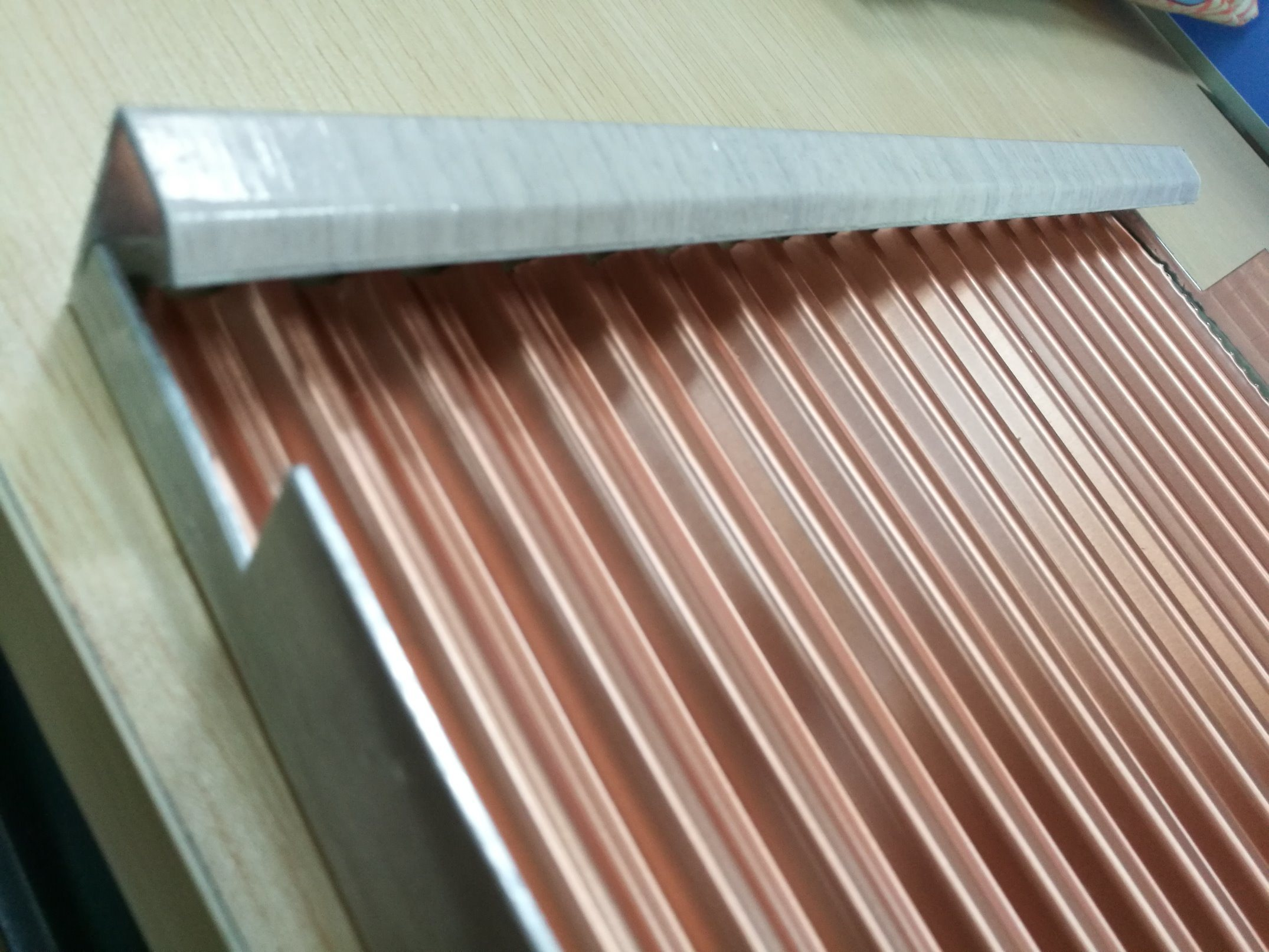 Perforated Decorative Aluminum Corrugated Ceiling Tiles