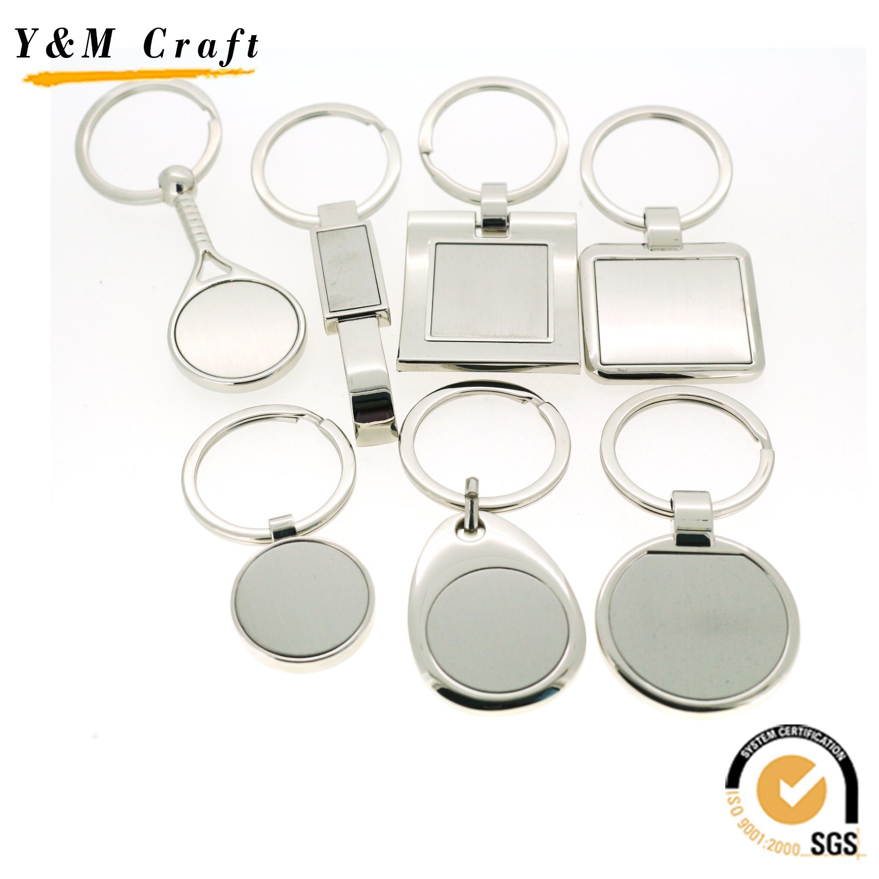 Wholesale Custom Blank Metal Sublimation Keychain