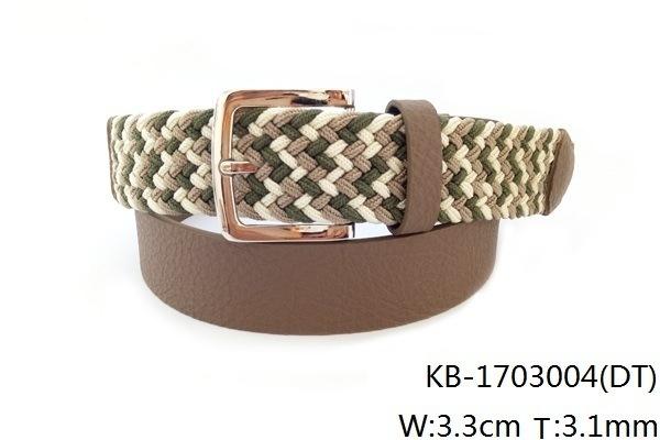 New Fashion PU Woven Belt (KB-1703004)