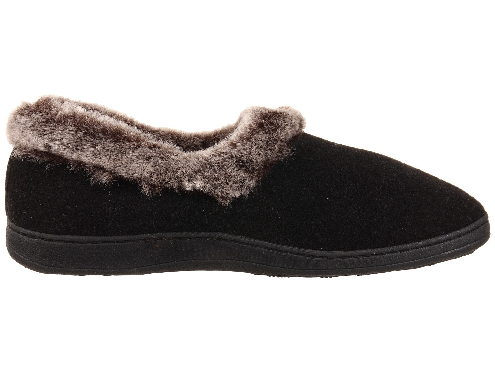 Top Round Fur Warm Memory Foam Slipper