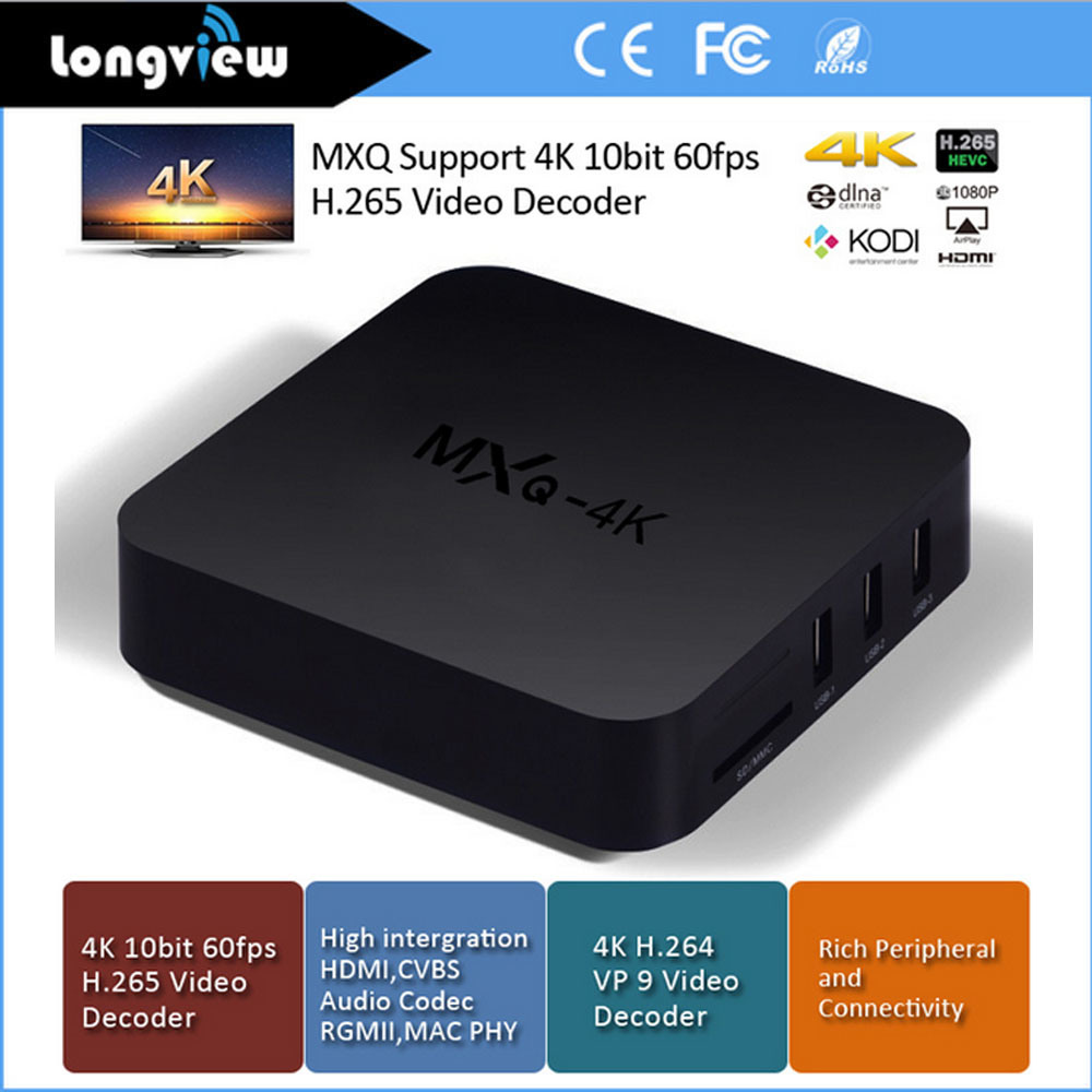 Rk3229 Ott Solution Mxq 4k Android 4.4 Quad Core A7 Smart TV Box