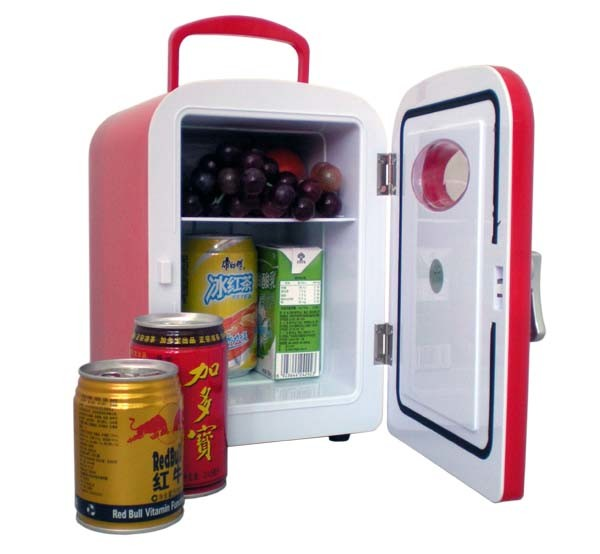 Fasionable Mini Fridge 4 Liter with DC12V, AC100-240V, for Cooling and Warming