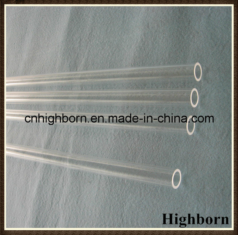 High Purity Clear Fused Silica Quartz Glass Tubing Heating