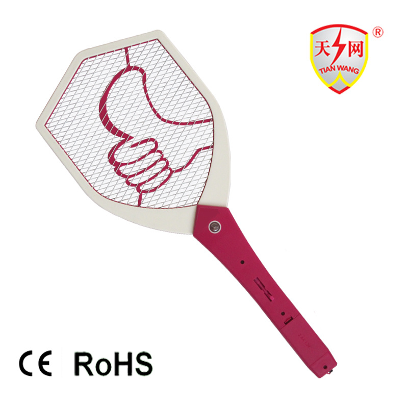 Best Battery Electric Mosquito Fly Racket with LED Light