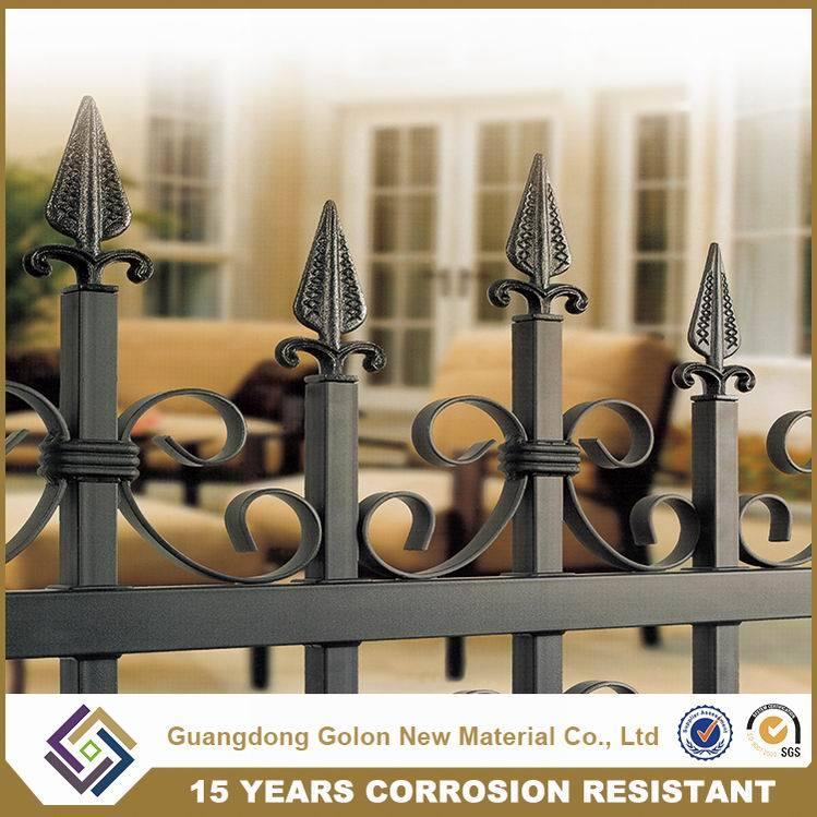 Aluminum Metal Galvanized Steel Fence Decorative Backyard Garden Fence