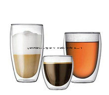 Double Wall Tumbler Glass Cup (B-CH)