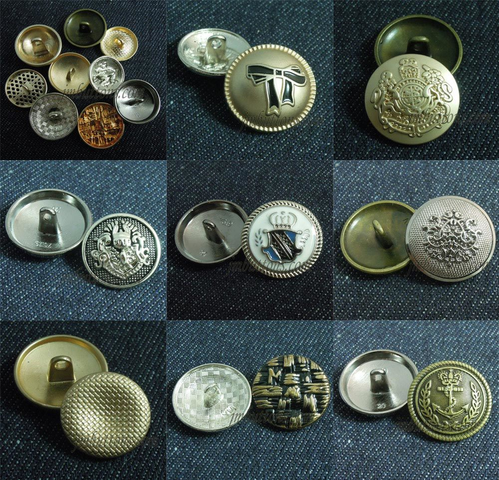 Metal Buttons Manufacturer: Jeans Snap Fasteners Shank Zinc Alloy Rhinestone Steel Iron Buttons