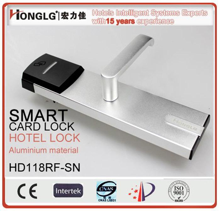 Honglg Aluminum Electronic RFID Hotel Lock