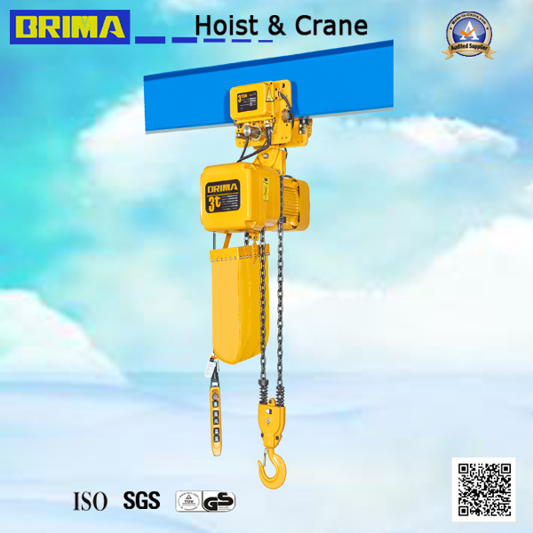3ton Japan Electric Chain Hoist with Electric Trolley (BMER03-01S)