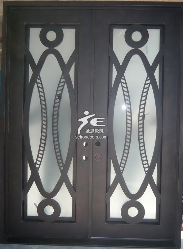 Modern Wrought Iron Entry Doors