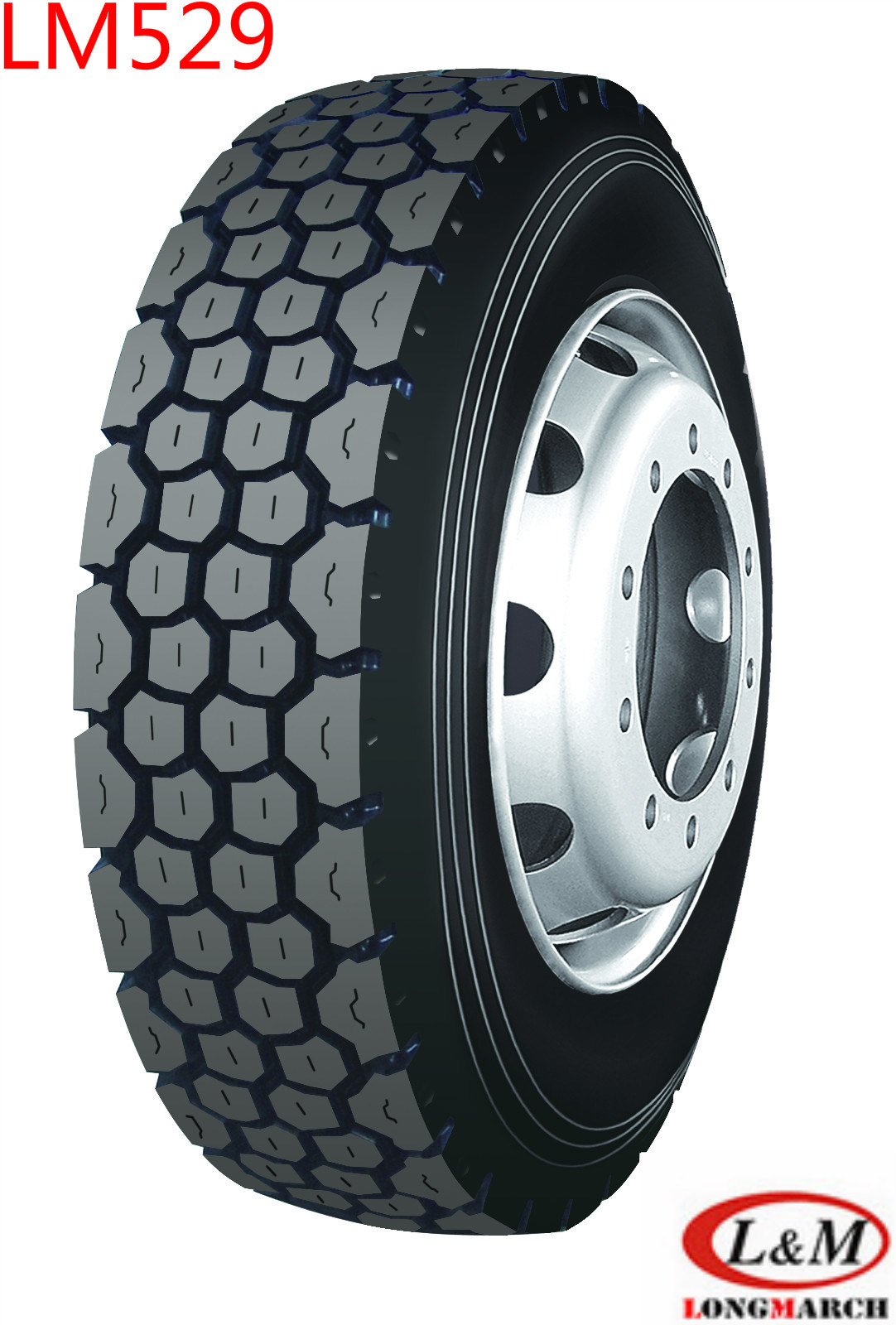 1200R20 Longmarch Drive/Trailer Position Tire with Tube (LM529)