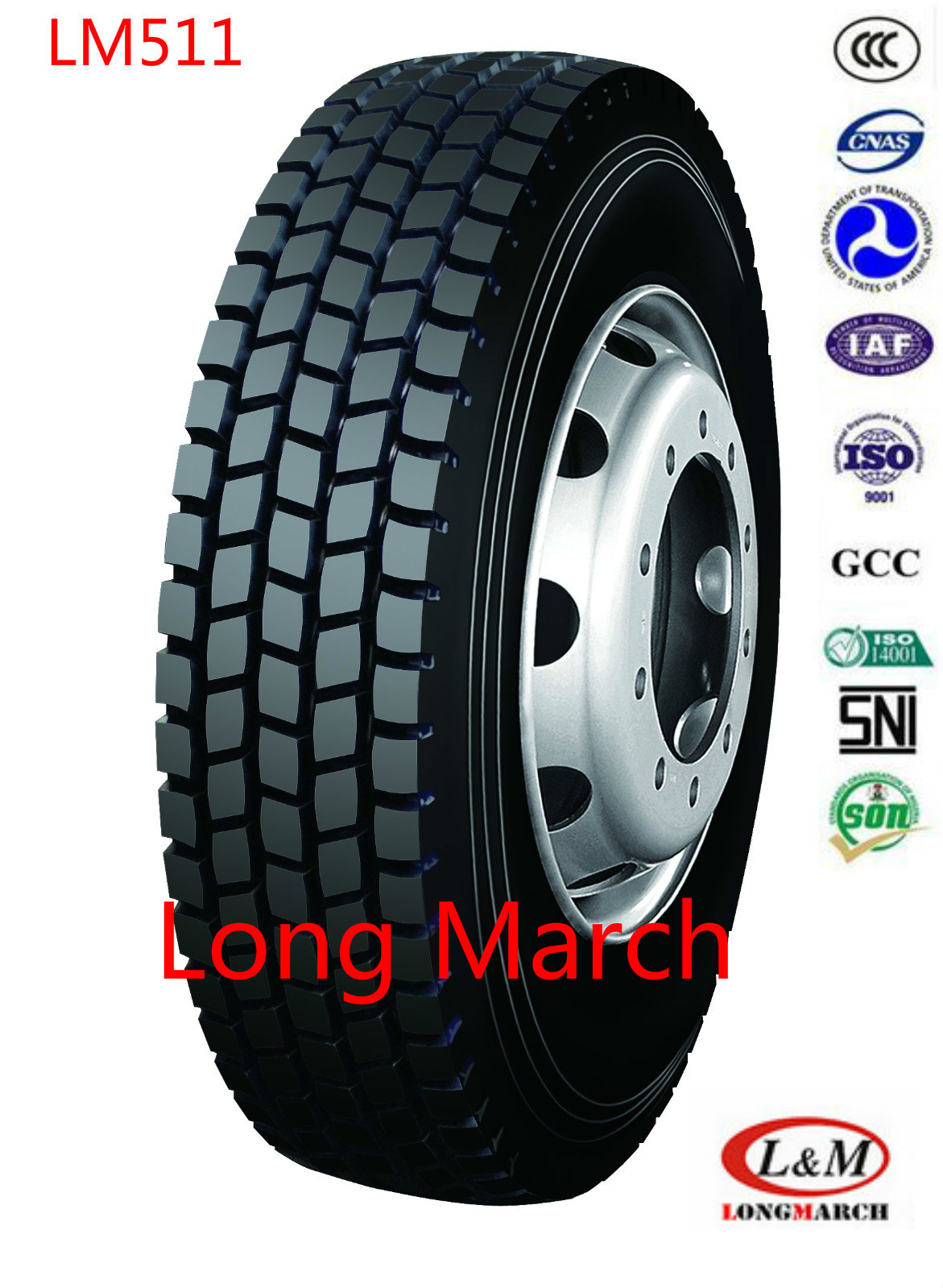 295/80R22.5 TBR Long March / Roadlux Radial Truck Tire with EU (LM511)