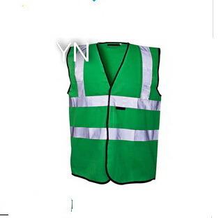 Green Hi Vis Reflective Safety Vest