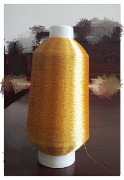 Fluorescent Golden Color Metallic Yarn Lurex Yarn Embroidery Yarn Polyester Yarn