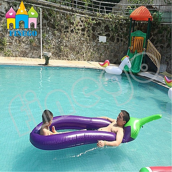 Inflatable Floating Circel Bread Popsicle Icecream Eggplant Pool Float