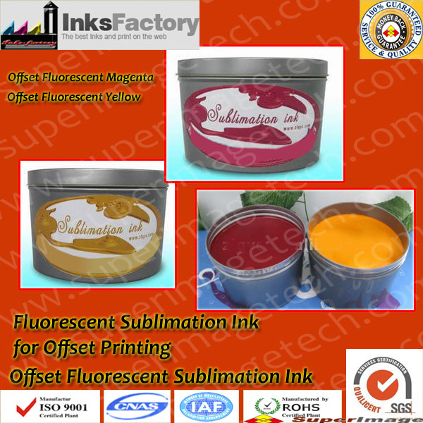 Fluorescent Sublimation Ink for Offset Printing
