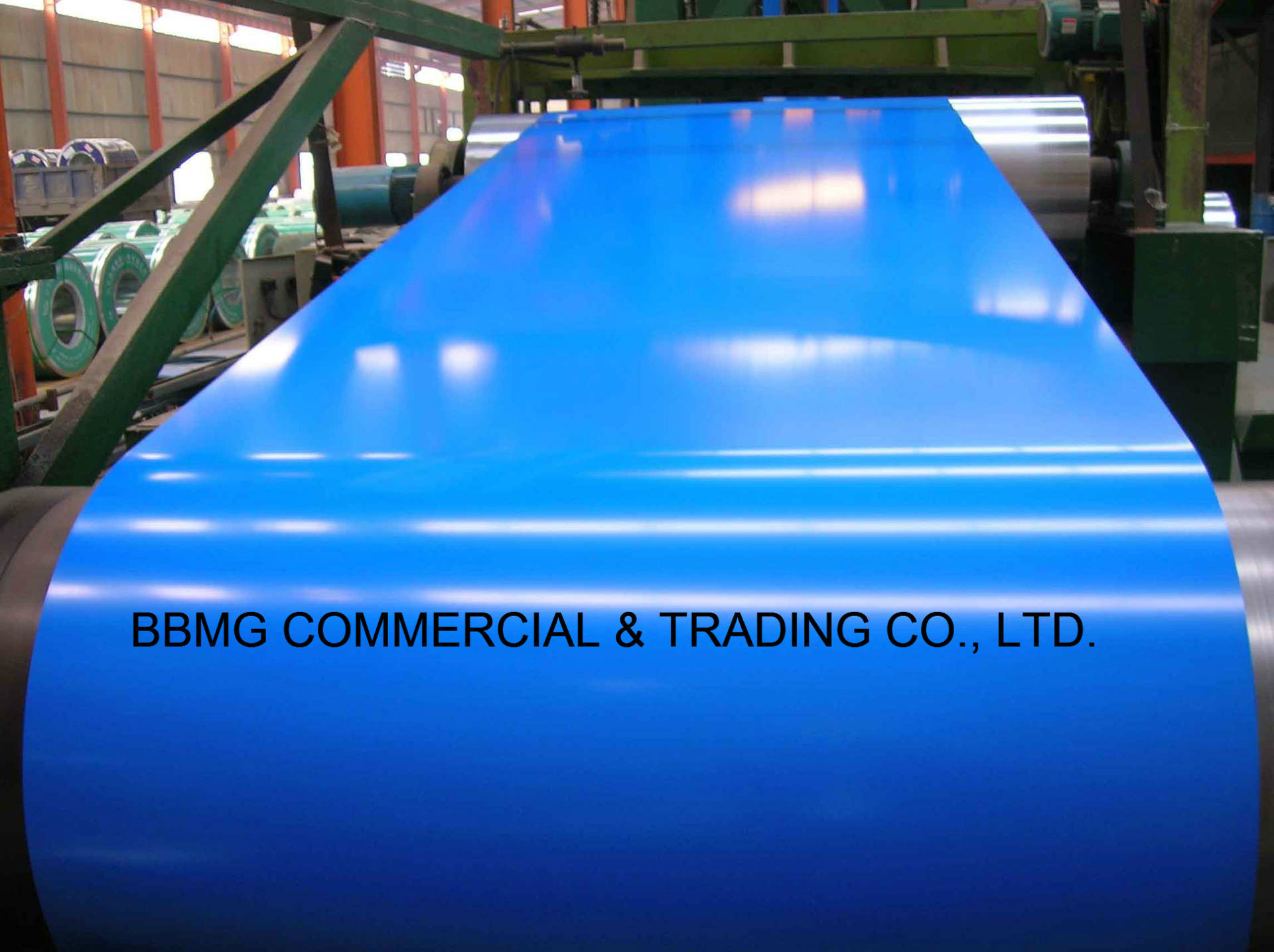 Corrugated Roofing Material PPGI Color Coated Steel Coil ASTM Prepainted Steel Coil