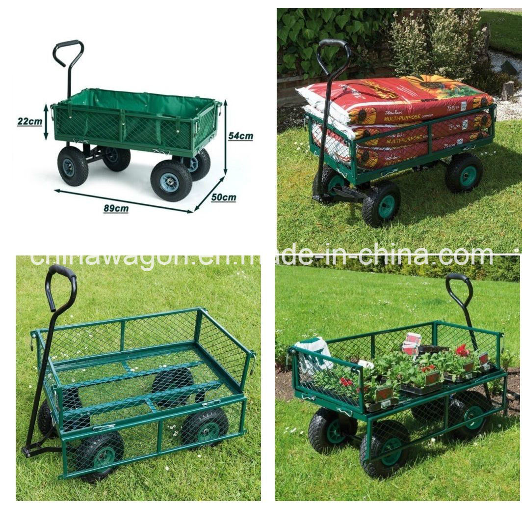 Wagon Garden Cart Nursery Trailer Heavy Duty Cart