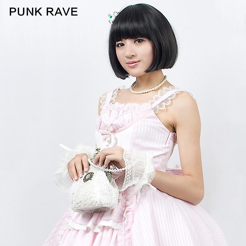Pyon Pyon Lolita Pearl Old Fashioned Handbag (LS-011/WH)