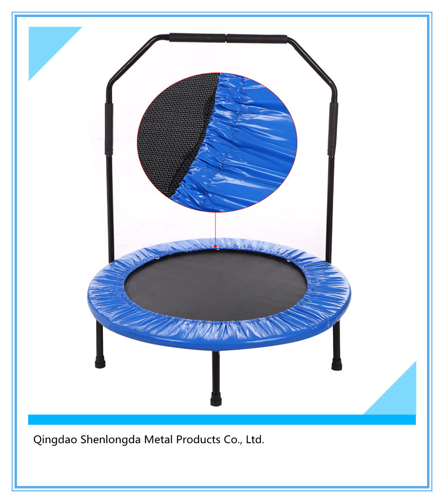 Circle Trampoline with Handrail for Fitness