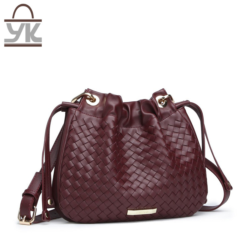 Weave Fashion PU Women Designer Leisure Handbags