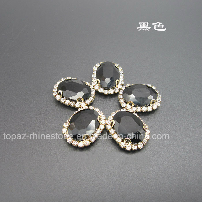 Fancy Claw Setting Crystals Sew on Rhinestone (SW-Navette 13*18mm)