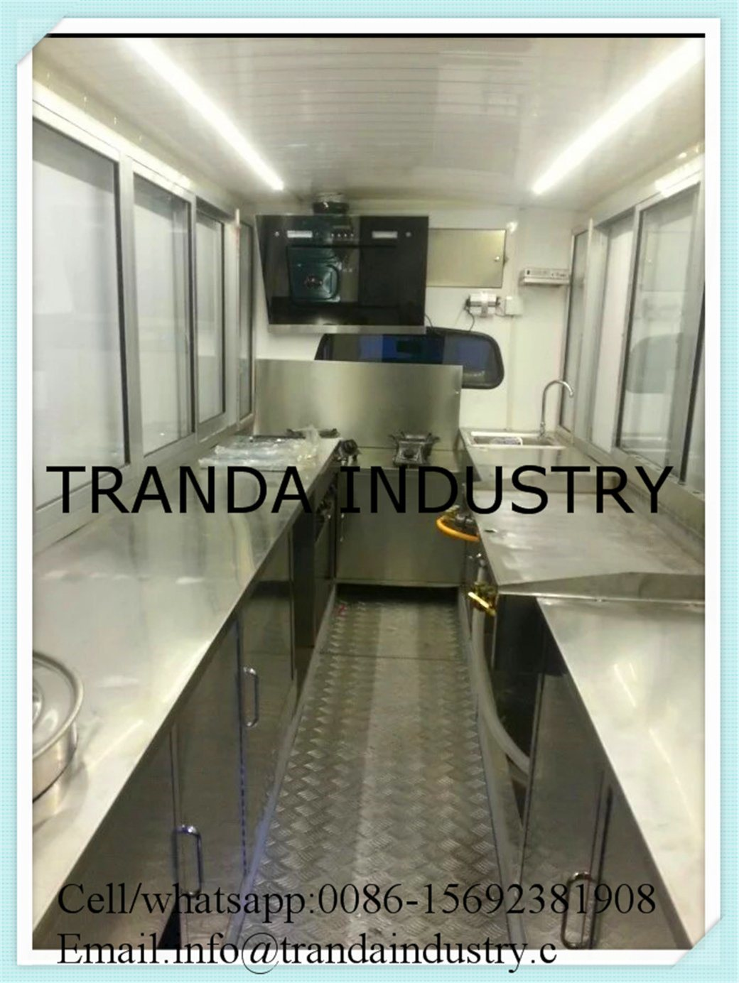 Juice Kebab Van European Standard Food Truck