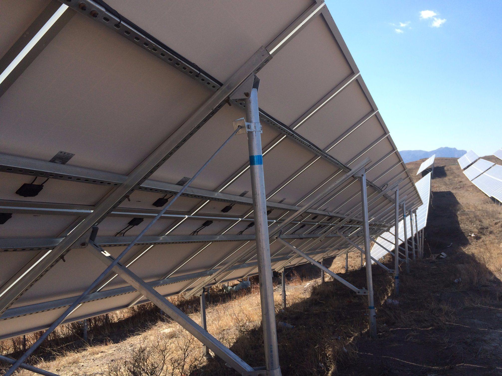 Solar Panel Bracket for Concrete Pile