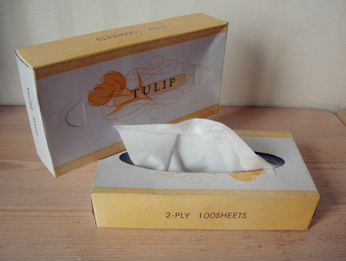 Box Facial Tissue, White Soft Paper