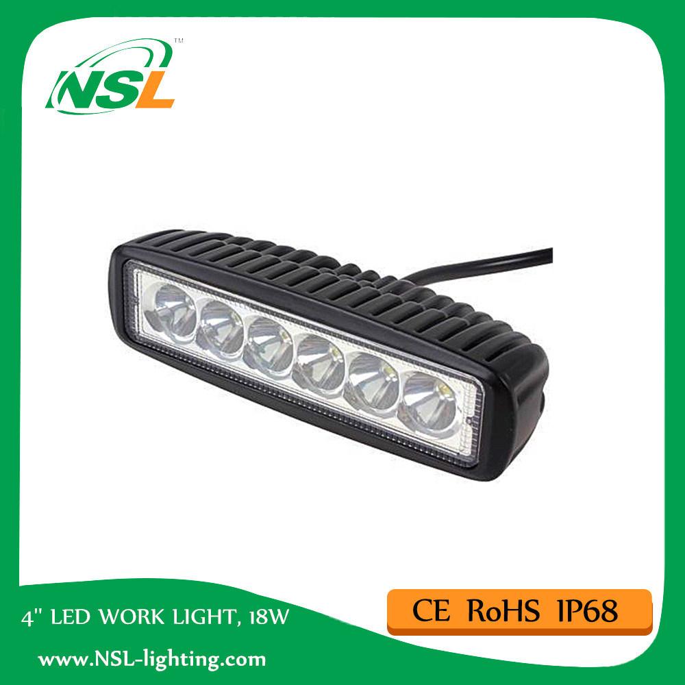 18W LED Driving Lighting Work Light Bar (NSL-1806-18W)
