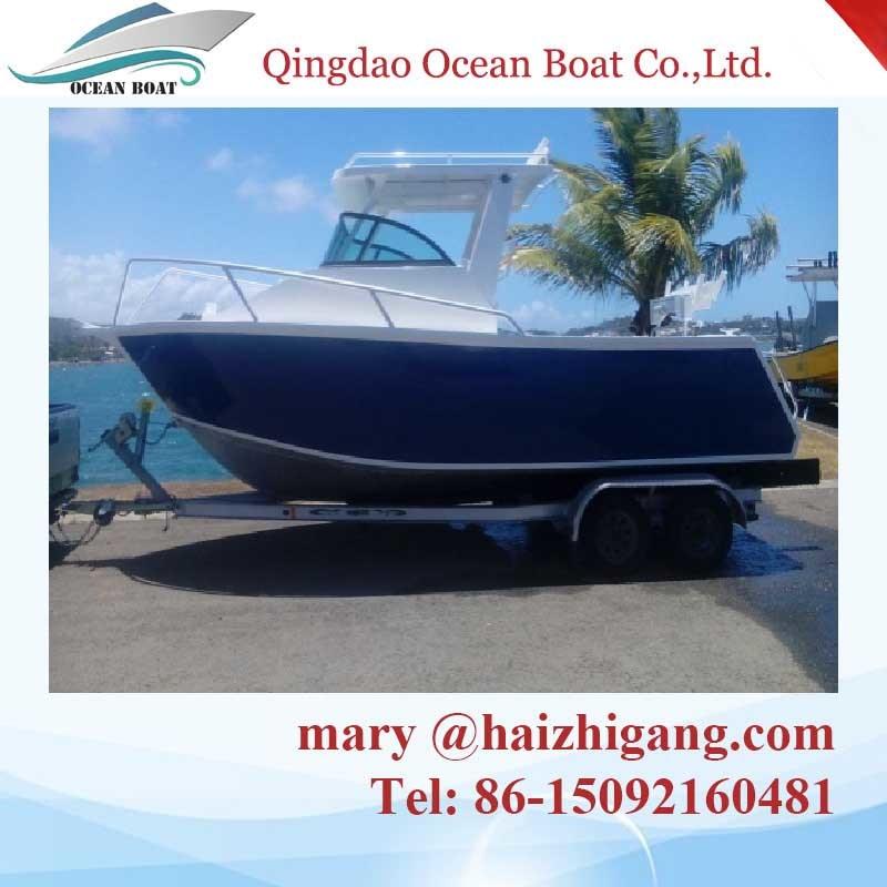 Hot Sale Aluminum Cabin Boat Walk Around Boat Pleasure Fishing Yacht
