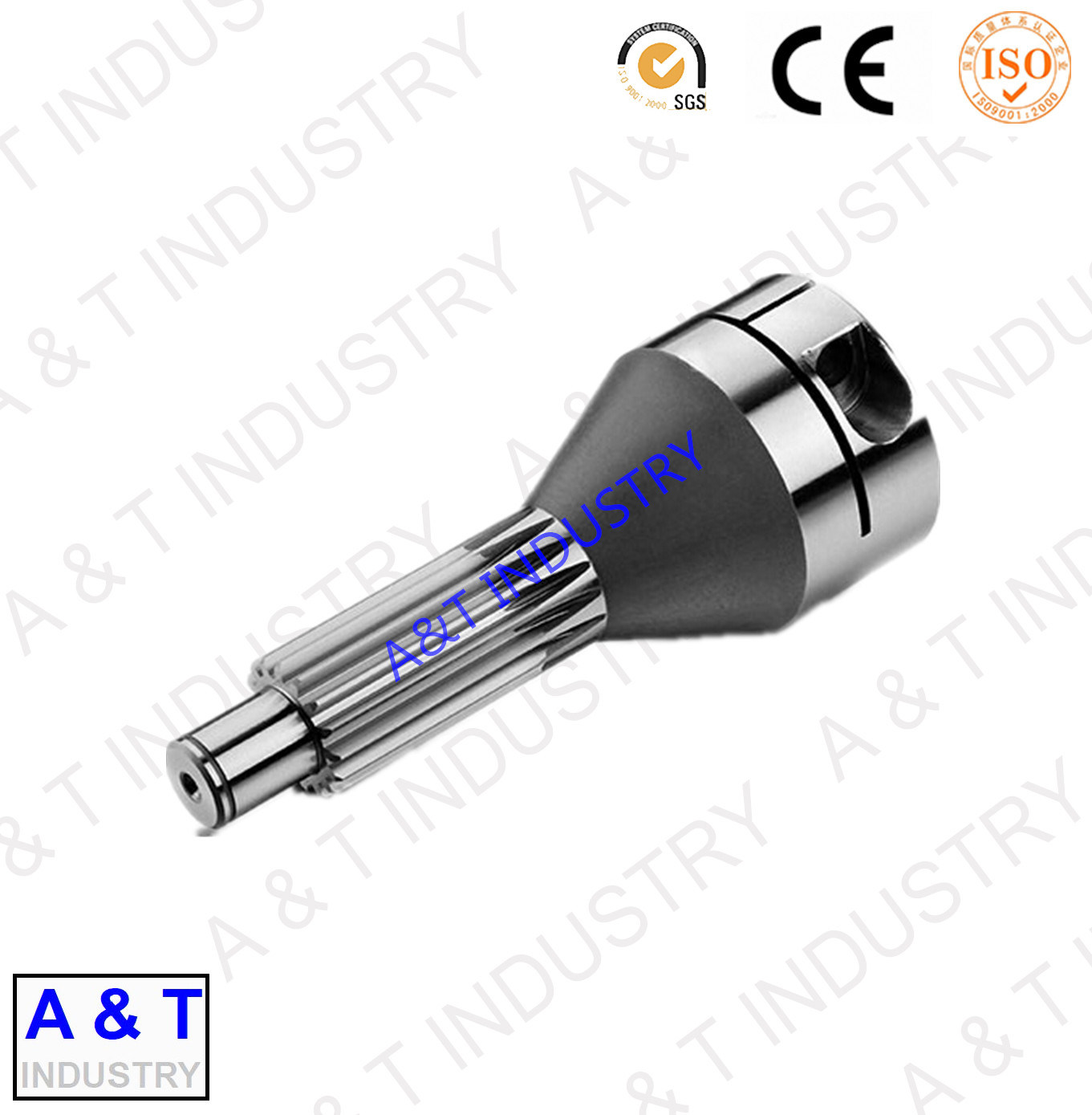 ISO 9001 Certificated Factory OEM Precision Steel Gear Shaft